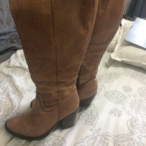 Steve Madden Knee High Leather Brown Boots